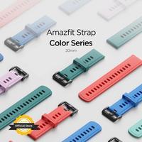20MM 원래 스트랩 Amazfit 스마트 워치 스트랩 원래 Amazfit GTS 2 미니 Bip U/U Pro S S lite GTR Amazfit 20MM 스마트 워치