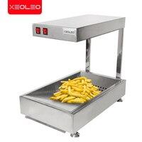 XEOLEO 감자 튀김 워머 츄러스 절연 기계 스테인레스 스틸 상업용 음식 워머 테이블 따뜻한 와플/케이크/도넛 유지