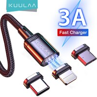 KUULAA Moblie Telefon Lade Kabel USB Typ C Draht Micro Magnetic USB Ladegerät Kabel für iPhone Samsung Huawei Xiaomi