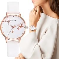 Elegant Simple Butterfly Design Dial Design Ladies Watches Women Fashion Luxury Dress Watch Casual Woman Quartz Leather Clock