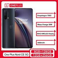 Welt Premiere OnePlus Nord CE 5G Smartphone 8GB 128GB Snapdragon 750G Warp Ladung 30T Plus 4500mAh Handy