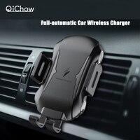 Neue Voll Automatische 10W Qi Schnelle Lade Auto Handy Halter Auto Halterung Drahtlose Ladegerät Für Huawei iPhone Samsung Auto telefon Halterung