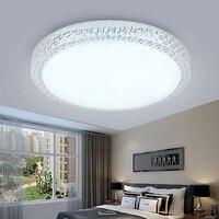 크리스탈 LED 천장 조명 12W 18W 24W 48W 하이라이트 현대 라운드 표면 샹들리에 AC 220V 부엌 침실 욕실 램프에 대 한