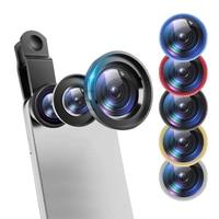 3 In 1 Fisch Auge Linsen Handy Clip Objektiv Für IPhone Samsung Huawei Kamera Makro Fisheye Weitwinkel Kamera objektiv Kits
