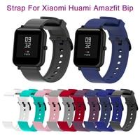 손목 스트랩 실리콘 스포츠 스트랩 Xiaomi Huami Amazfit Bip 스마트 워치 20MM 교체 밴드 팔찌 스마트 액세서리 Mar1