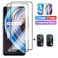 4 in 1 Schutz Glas Für Realme X50 X7 X2 Pro X XT X3 Gehärtetem Glas Für Realme GT Neo c15 C21 C11 C3 C3i Objektiv Glas Film
