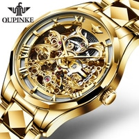 Top Brand OUPINKE Luxury Men Watches Automatic Gold Watch Men Tungsten Steel Business Mechanical Sapphire Crystal Wristwatch