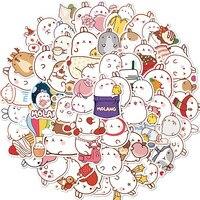 50 teile/satz Nette Molang Kaninchen Anime Japanischen Wasserdicht PVC Aufkleber Scrapbooking DIY Schreibwaren Aufkleber Kawaii Jounal Aufkleber