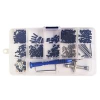 Conjunto de parafusos, kit de caixa de parafusos para wltoys 1/14 144001 rc, peça de acessórios para carro