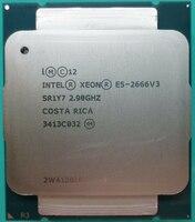 Verwendet Intel Xeon E5 2666 V3 Prozessor SR1Y7 2,9 Ghz 10 Core 135W Sockel LGA 2011-3 CPU e5 2666V3