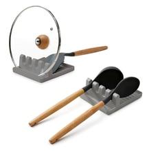 Suporte de plástico para colher, organizador de descanso para cozinha, para garfo, espátula, colher, talheres, suporte para utensílios de cozinha