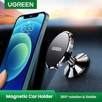 Ugreen מגנטי טלפון מחזיק עבור iPhone 13 12 סמסונג Xiaomi רכב מחזיק עבור טלפון עבור טלפון נייד לוח מחוונים מחזיק מעמד
