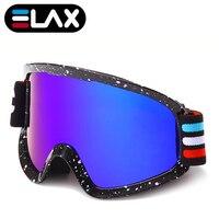 ELAX MARKE NEUE Doppel Schichten Anti-Fog Ski Brille Schneemobil Masken Brillen Männer Frauen Ski Brille Schnee Snowboard Googles