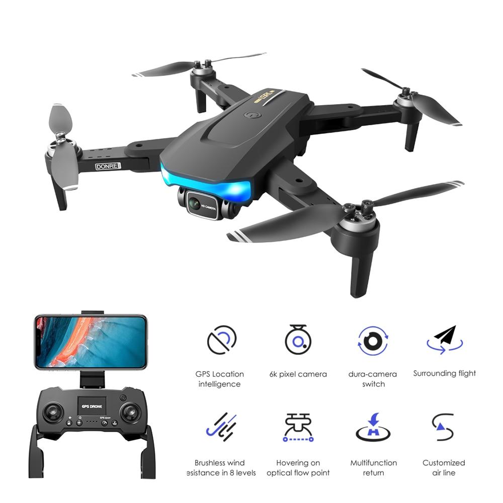 Dron teledirigido con GPS y cámara HD 6K. LS38, Drone cuadricóptero con Motor sin escobillas para fotografía aérea profesional, 5G, WiFi, VS L900 SG907, novedad de 2021