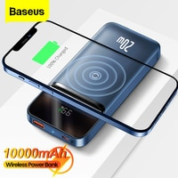 Baseus Power Bank 10000mAh PD 20W Magnetische Drahtlose Ladegerät Externe Batterie Tragbare Power Für iPhone 13 12 Pro POCO X3 Pro
