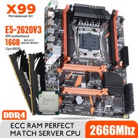 Atermiter X99 D4 DDR4 Motherboard Set Mit Xeon E5 2620 V3 LGA2011-3 CPU 2 stücke X 8GB = 16GB 2666MHz DDR4 PC4 REG ECC RAM Speicher