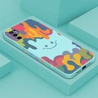 Luxus Aquarell Smiley Silikon Telefon Fall Für Xiaomi Redmi Hinweis 10 9 8 Pro 9T 9A Mi 11 Ultra 10 Lite Poco F3 Stoßfest Abdeckung