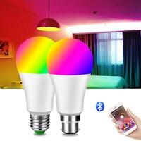 Drahtlose Bluetooth 4,0 Smart Glühbirne APP Control Dimmbare 20W 15W E27 B22 RGB + W + WW LED farbe Ändern Lampe Kompatibel IOS/Android