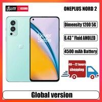 Globale Version OnePlus Nord 2 5G Smartphone Dimensity 1200 50MP AI Kamera Warp Ladung 65W 90Hz Flüssigkeit AMOLED Display Handy