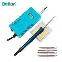 BAKON-75W 950D 미니 휴대용 전기 납땜 스테이션 T13iron 팁, 휴대용 전기 인두 전기 납땜 인두 T13 인두 헤드