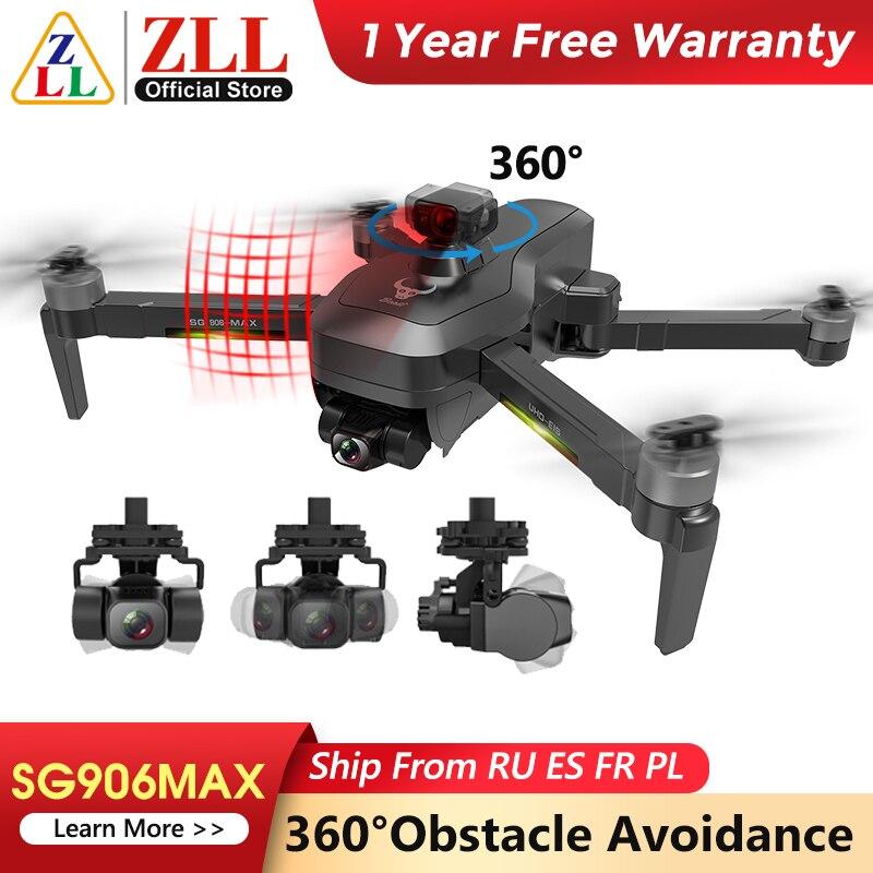 Kamera Drone Mit 3 Achsen Gimbal Professionelle 4K HD GPS WiFi FPV RC Quadcopter Fernbedienung Eders ZLL SG906 MAX pro 2 Pro2