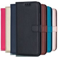 Effen Kleur Leather Wallet Case Voor Huawei Mate 20 Pro Mate 30 10 P8 P9 Lite 2017 P10 P20 Lite p30 Pro P40 Flip Cover Card Slot