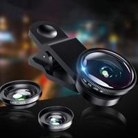 3 In 1 Fish Eye Objektiv 0,67 x Weitwinkel Makro Linsen Clip Für iPhone Samsung Huawei Xiaomi Universal Mobile telefon Kamera Fisheye
