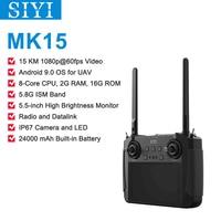 SIYI MK15 Mini Handheld Fernbedienung Radio Sender 5,5-Zoll HB Bildschirm 1080p Video 15KM 5,8G android 9,0 2G RAM 16G ROM