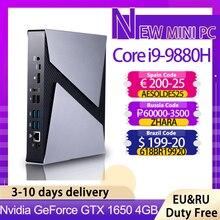 TOP Gaming Computer Intel Core i9 9880H 8950HK i7 9750H i5 9300H GTX1650 Mini Pc Windows 10 pro 2 * DDR4 4K HDMI DP Typ-C AC WiFi