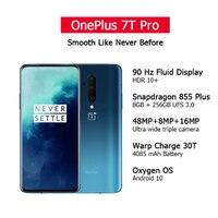 Globale ROM OnePlus 7T Pro Snapdragon 855 + 8GB 12GB RAM 256GB 6.67 ''AMOLED Bildschirm 90Hz Aktualisieren Rate 48MP Triple Cam 4085mA NFC