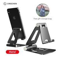 LICHEERS טלפון Stand מחזיק עבור iPhone 12Pro Xiaomi mi 9 מתכת טלפון מחזיק מתקפל נייד טלפון Stand שולחן עבור iPhone 8 11X XS