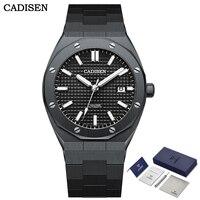 CADISEN 2021 Men Watch 42mm Automatic Mechanical Waterproof 100m Luxury Sapphire Glass Japan Movement Black Diver Watch for Men