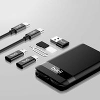 Budi 다기능 범용 스마트 어댑터 카드 저장 USB 박스 무선 데이터 케이블 충전 Xiaomi Iphone Huawei Drop Ship