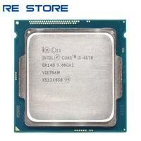 Verwendet Intel Core i5 4670 3,4 GHz 6MB Sockel LGA 1150 Quad-Core CPU Prozessor SR14D