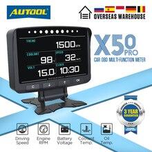 AUTOOL X50 PRO OBDII HUD OBD Head Up Display Auto Geschwindigkeit Meter Scanner Multi-funktion Automobil Tachometer mit Fehler diagnose