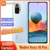 Globale Version Xiaomi Redmi Hinweis 10 Pro Smartphone Snapdragon 732G 108MP Kamera 5020mAh Batterie 120HZ AMOLED Bildschirm mit NFC