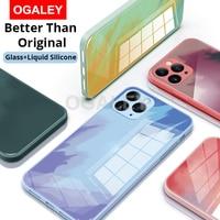 ケースiphone 5 12プロマックスiPhone12 11プロマックス11 11Proケース強化ガラスソフト液状シリコーン360 ° フル保護カバー