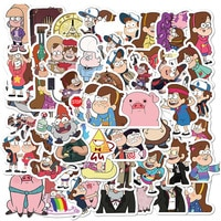 10/30/50 PCS Cartoon Schwerkraft Fällt Aufkleber Wasserdicht Skateboard Gitarre Laptop Gepäck Nette Lustige Anime Aufkleber Kinder Mädchen Spielzeug