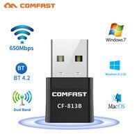 5Ghz USB Bluetooth Kompatibel Adapter 650Mbps Drahtlose Computer Adapter BT 4,2 Laptop Audio Receiver Transmitter Dongles Kopfhörer