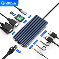 ORICO USB C HUB Typ C zu Multi USB 3,0 PD RJ45 Krempel Leser Dock Splitter für PC MacBook Pro zubehör