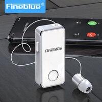 Fineblue F2 פרו אלחוטי עסקים Bluetooth אוזניות ספורט נהג אוזניות טלסקופי קליפ על סטריאו Earbud רטט