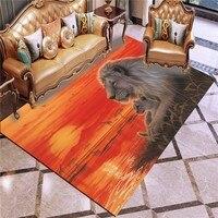3D Print Lion Tiger Carpet Cartoon Animal Rug Cartoon For Bedroom Floor Carpet For Kids Baby Play Mat For Living Room Carpet