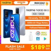 Original realme narzo 30 5G Globale Version 4GB 128GB Dimensity 700 90Hz Display Smartphone 5000mAh 48MP Triple Kamera NFC