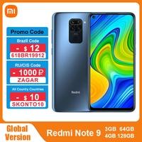 Global Version Xiaomi Redmi Note 9 64GB/128GB Smartphone Helio G85 Octa Core Smartphone 48MP Camera 6.53