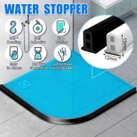 200cm Silicone Bathroom Water Stopper Blocker Shower Dam Non-slip Dry And Wet Separation Flood Barrier Door Bottom Sealing Strip