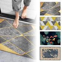 New Geometric Printed Doormat Living Room -slip Carpet Absorbent Shower Bath Mat Bedroom Kitchen Rug Welcome Door Mats