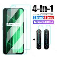 4 in 1 Gehärtetem Glas Für Realme X50 X7 X2 Pro X XT X3 Schutz Glas Für Realme GT Neo c15 C11 C21 C3 C3i Objektiv Glas Film