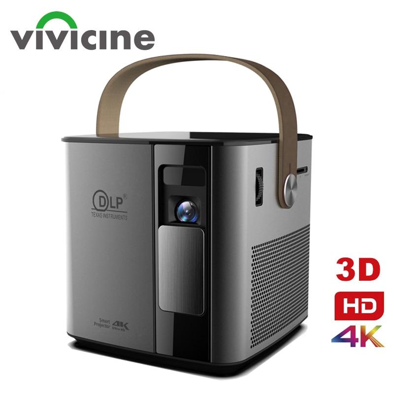 Vivicine-Proyector 3D para cine en casa, dispositivo de proyección 4K P12, con Android, WIFI, HDMI, USB 1080p, Full HD, batería de 12000 mAh