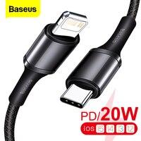 Baseus-USBタイプCケーブル,20W,iPhone 13 12 pro xs max用,急速充電器,macbook pro,type-c,usbc用