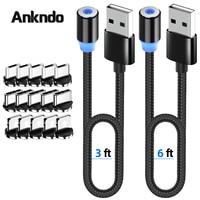 ANKNDO Magnetic Charging Kabel USB C Magnetische Kabel Für Xiaomi Iphone Samsung Ladekabel Micro USB Magnet Ladegerät Kabel